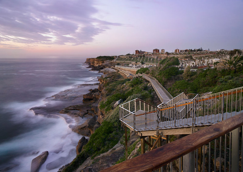 Coast walk extension bondi to bronte by aspect studios for Aspect australia