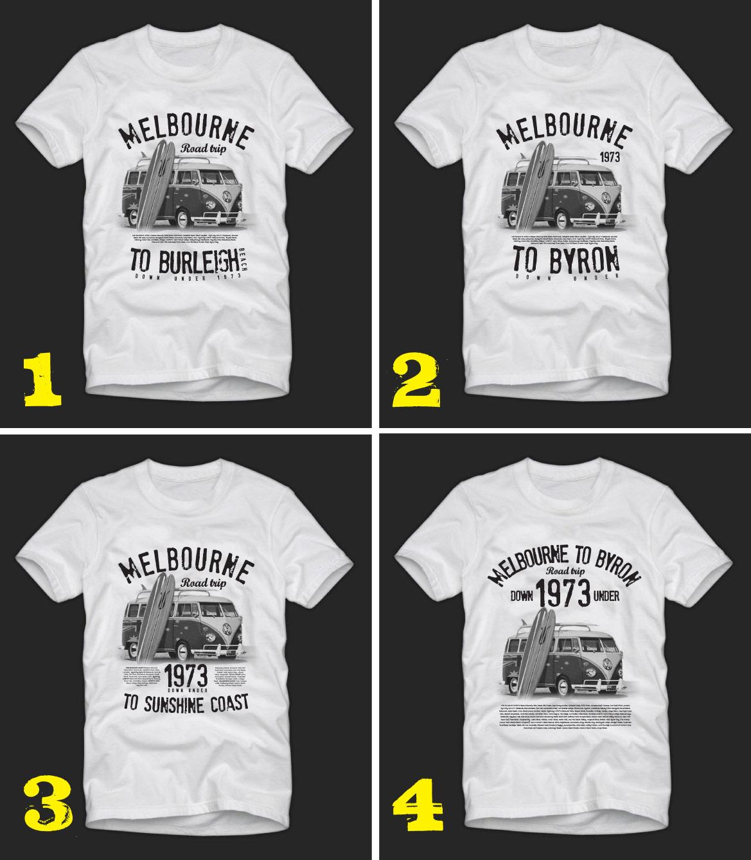 Design t shirt melbourne - Aussie Road Trip T Shirt