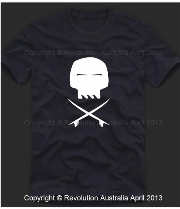 Surf skull t shirt