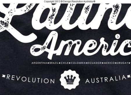 futbol latin america t shirt