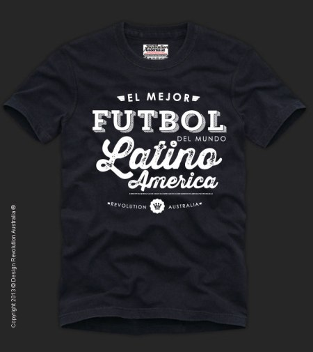FUTBOL (LATIN AMERICA) T SHIRT – WORLD SPORT | Design Revolution ...