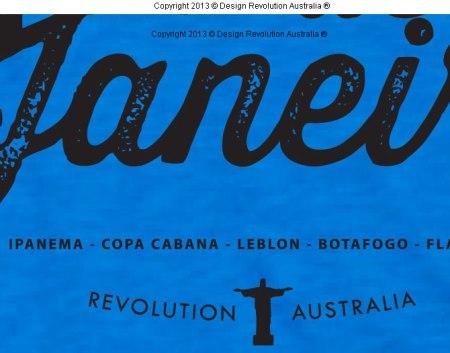 RIO DE JANEIRO T SHIRT, Rio de Janeiro, Corcovado, futevolei, futbol, world sport, sport t shirt, sports, surf t shirt, cool t shirt, designer t shirt, t shirt, white t shirt, revolution australia, design revolution australia.