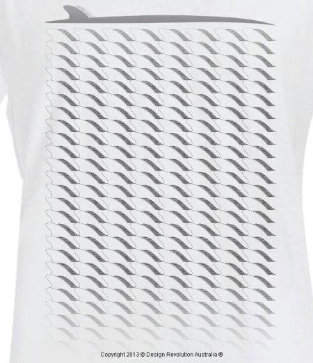 surfboard pattern, surfboard, surf t shirt, cool t shirt, designer t shirt, t shirt, white t shirt, revolution australia, design revolution australia.